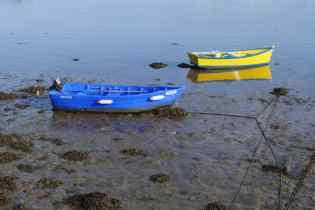 Fischerboote bei auflaufendem Wasser