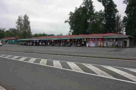 Vietnamesen-Markt an der Grenze