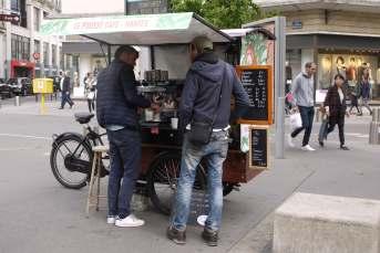 Straßenszene in Nantes