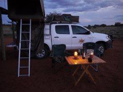 Stellplatz auf der Bagatelle Kalahari Game Ranch