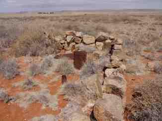 Überreste der Schutzbauten