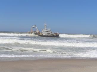 Gestrandeter Trawler