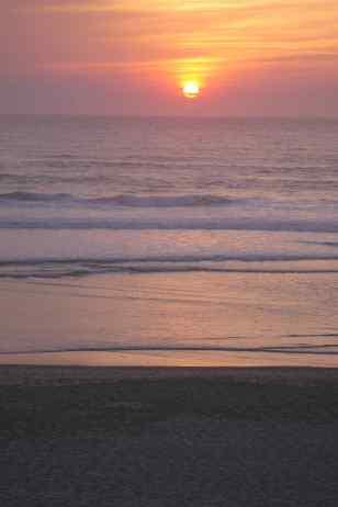 Sonnenuntergang über der Biskaya